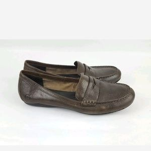 Born loafers brown leather womens 7 38